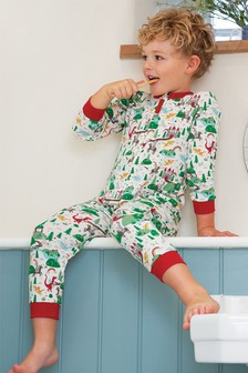 Frugi White GOTS Organic Zip All-In-One