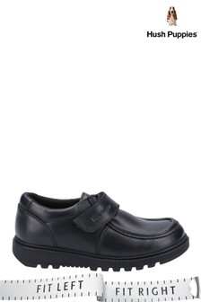 Hush Puppies Black Ryan Senior School Shoes