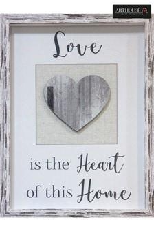 Love Heart Home Framed Print by Arthouse