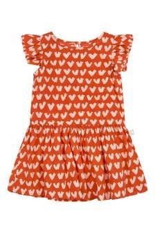فستان قطن أحمر بيبي بناتي