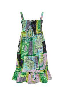 Girls Multicolour Cotton Dress