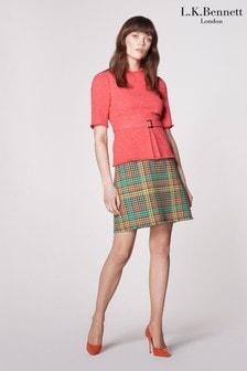 L.K.Bennett Pink Bernice Wool And Cotton Jumper