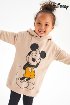 Beige Mickey Mouse Licence Hoodie (3mths-7yrs)