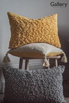 Gallery Direct Herringbone Recycled Tassel Cushion