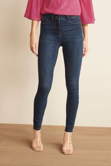 Dark Blue Power Stretch Denim Leggings