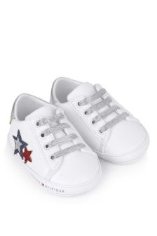 Tommy Hilfiger Baby Girls White Pre-Walker Trainers