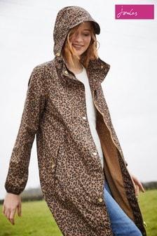 Joules Brown Waybridge Waterproof Raincoat With Mesh Lining