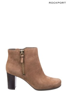 Rockport Coconut Suede Total Motion Trixie Bootie 2 Shoes