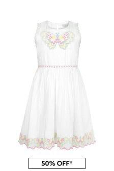 Stella McCartney Kids Girls Cream Cotton Dress