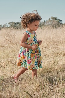 Floral Printed Organic Cotton Dress (3mths-7yrs)