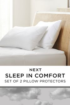 Sleep In Comfort Set Of 2 Pillow Protectors