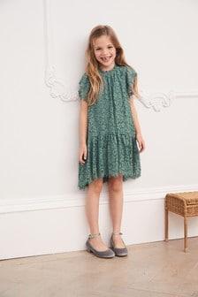 Teal Lace Dress (3-16yrs)