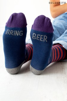 Bring Beer Patterned Slogan Socks by Solesmith