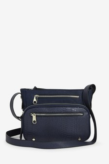 Navy Utility Across-Body Bag