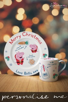 Personalised Peppa Pig™ Mug And Plate Set by Signature PG