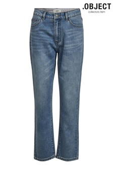 OBJECT Light Blue Denim Straight Leg Jeans