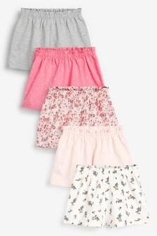 Pink 5 Pack Shorts (3mths-7yrs)