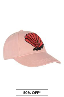 Girls Pink Organic Cotton Shell Cap