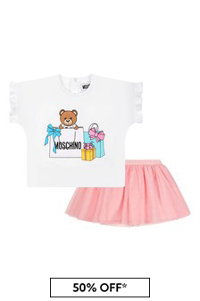 Moschino Baby Girls Pink Cotton Outfit