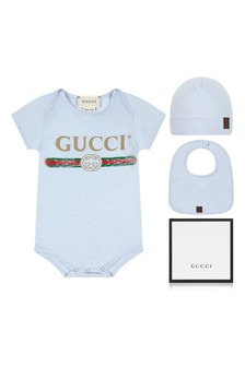 Baby Boys Light Blue Bodysuit Gift Set