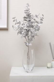 Set of 3 Artificial Metallic Eucalyptus Stems