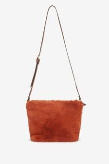 Ginger Faux Fur Bucket Bag
