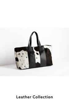 Cow Hide Leather Weekend Bag