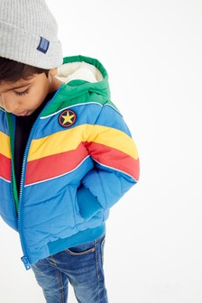 Multi Colourblock Puffer Jacket (3mths-7yrs)
