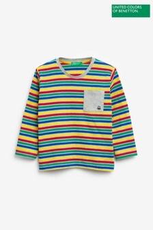 Benetton Multi Stripe Long Sleeve T-Shirt