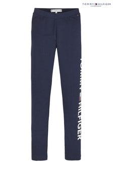 Tommy Hilfiger Blue Essential Logo Leggings