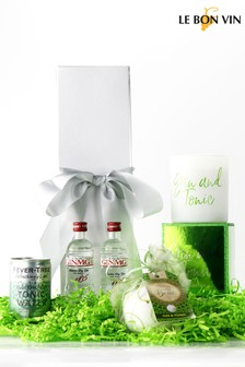 Gin Bath Bomb And Candle Gift Set by Le Bon Vin