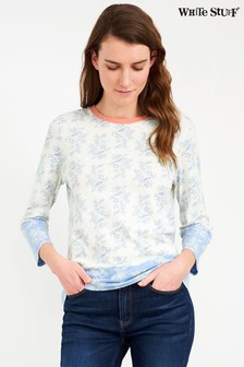 White Stuff Blue Mixed Print T-Shirt
