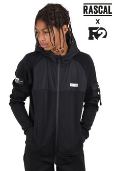 Rascal Black Boys Tech Utility Track Top