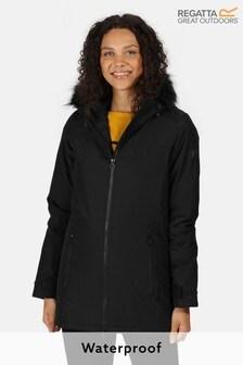 Regatta Black Myla Waterproof Jacket