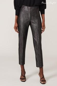 Phase Eight Black Geri Glitter Trousers