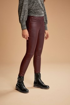 Berry Sculpt Pull-On Coated Leggings
