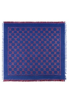 Girls Blue & Red Shawl