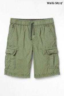 White Stuff Green Niko Cargo Shorts