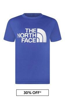 Boys Blue Reaxion Logo Print T-Shirt