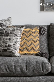 Gallery Direct Lattice Weave Zig Zag Tassel Cushion