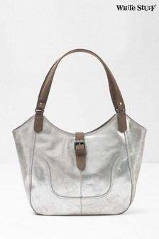 White Stuff Metallic Bonnie Metallic Leather Hobo Bag