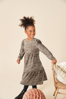 Animal Jersey Printed Maxi Dress (3-16yrs)
