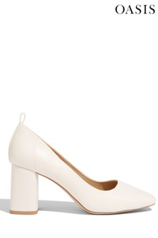 Oasis White Square Toe Court Shoes
