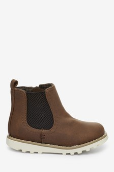 Chocolate Chelsea Boots (Younger)