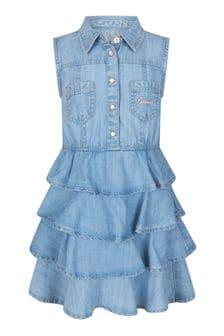 فستان أزرقبناتي