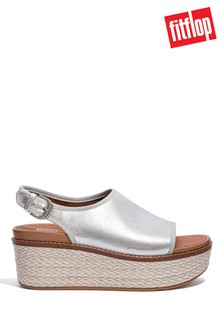 FitFlop Silver Eloise Mixed Metallic Back Strap Wedges