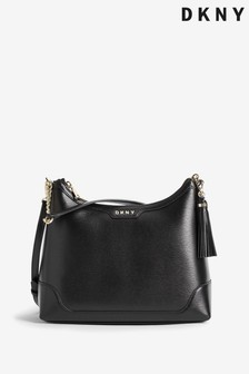 DKNY Black Polly Leather Hobo Bag