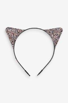 Multicolour Halloween Glitter Cat Ears Headband