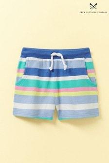 Crew Clothing Blue Jersey Stripe Shorts