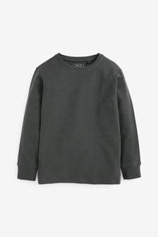 Charcoal Long Sleeve Cosy T-Shirt (3-16yrs)